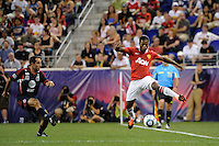 Patrice Evra (3) of Manchester United. Manchester United defeated the MLS All-Stars 4-0 during the MLS ALL-Star game at Red Bull Arena in Harrison, NJ, on July 27, 2011.