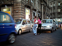 Street traffic in Catania