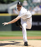 CHICAGO - JUNE 09:  Chris Sale #49 of the Chicago White Sox pitches against the Houston Astros on June 9, 2012 at U.S. Cellular Field in Chicago, Illinois.  The White Sox defeated the Astros 10-1.  (Photo by Ron Vesely)   Subject: Chris Sale.
