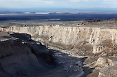 Deep gully erosion gulley in pyroclastic flow and lahar deposits from eruption of Shiveluch Volcano, Kamchatka, Russia.