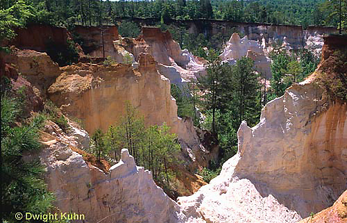WG07-001a  Weather - erosion in Georgia - Providence Canyon