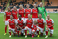 Arsenal ladies line up before Arsenal Ladies vs Birmingham City Ladies, FA Women's Super League FA WSL1 Football at the Hive Stadium on 20th May 2017