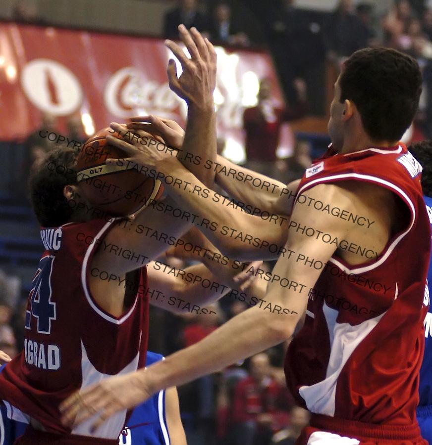 SPORT KOSARKA ULEB CUP CRVENA ZVEZDA DYNAMO DINAMO MOSKVA 28.2.2006. foto: Pedja Milosavljevic<br />
