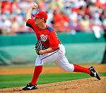 7 March 2012: Washington Nationals starting pitcher Jordan Zimmermann on the mound against the St. Louis Cardinals at Space Coast Stadium in Viera, Florida. The teams battled to a 3-3 tie in Grapefruit League Spring Training action. Mandatory Credit: Ed Wolfstein Photo