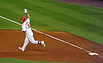21 June 2011: Washington Nationals catcher Wilson Ramos rounds the bases after hitting a walk-off 3-run homer in the bottom of the 9th inning to win the game against the Seattle Mariners at Nationals Park in Washington, District of Columbia. The Nationals rallied from a 5-1 deficit, scoring 5 runs in the bottom of the 9th, to defeat the Mariners 6-5 in inter-league play. Mandatory Credit: Ed Wolfstein Photo