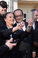 François Hollande during an official state visit to Luxembourg enjoys selfies - Exclusive