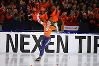 SCHAATSEN: HEERENVEEN: 07-01-2017, IJsstadion Thialf, ISU EC Allround, Europees kampioen Ireen Wüst, ©foto Martin de Jong
