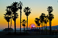 Santa Monica amid the sunset on Wednesday, May 1, 2013.