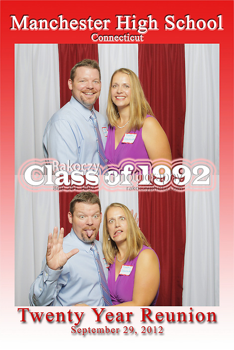 Class of '92 get's serious and silly at the photobooth