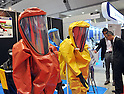 October 19, 2011, Tokyo, Japan - Color coated protective gear is on display during Risk Management Expo in Tokyo on Wednesday, October 19, 2011. Members of domestic and foreign law enforcement communities were among visitors to the annual security and safety trade show that covered the fields of safety, risk and crisis management, and security and crime prevention. (Photo by Natsuki Sakai/AFLO) [3615] -mis-