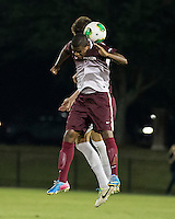 The Winthrop University Eagles played the College of Charleston Cougars at Eagles Field in Rock Hill, SC.  College of Charleston broke the 1-1 tie with a goal in the 88th minute to win 2-1.  Adan Noel (7)