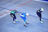 SCHAATSEN: HEERENVEEN: Thialf, 07-06-2012, Zomerijs, Jan Blokhuijsen, Mark Tuitert, Koen Verweij, Team Pursuit training, ©foto Martin de Jong