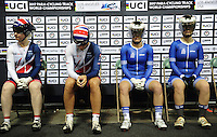 Picture by Simon Wilkinson/SWpix.com - 05/03/2017 - Cycling 2017 UCI Para-Cycling Track World Championships, Velosports Centre, Los Angeles USA -  Louise HASTON and Aileen MCGLYNN - Eleni KALATZI and Argyro MILAKI