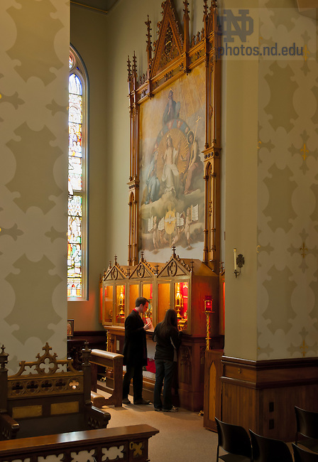 Apr. 11, 2012; Reliquary Chapel, Basilica of the Sacred Heart..Photo by Matt Cashore/University of Notre Dame