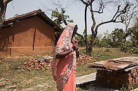 """Pobita Sardar, 31 years old, is the head village responsible for 13 rural centres around Birbans. Despite the fact that the State of Jharkhand outlaws witch hunts, she still believes in them. """"According to the law there is no such thing as witchcraft, but I think witches exist""""."""
