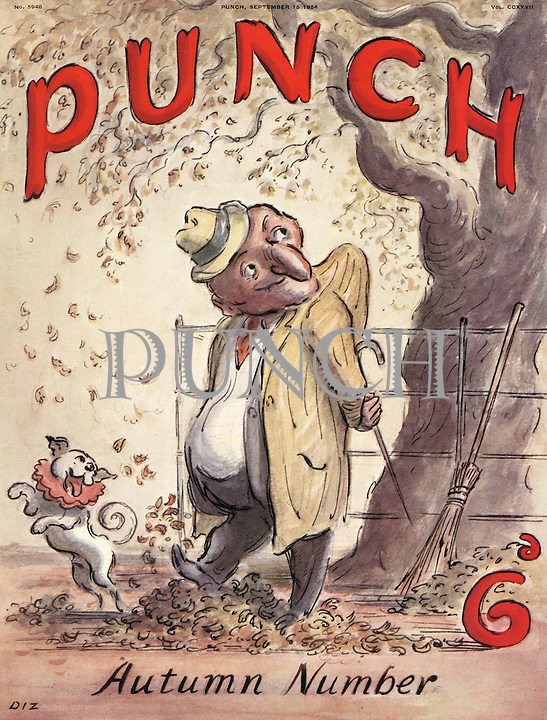 Punch Autumn Number (front cover, 15 September 1954)