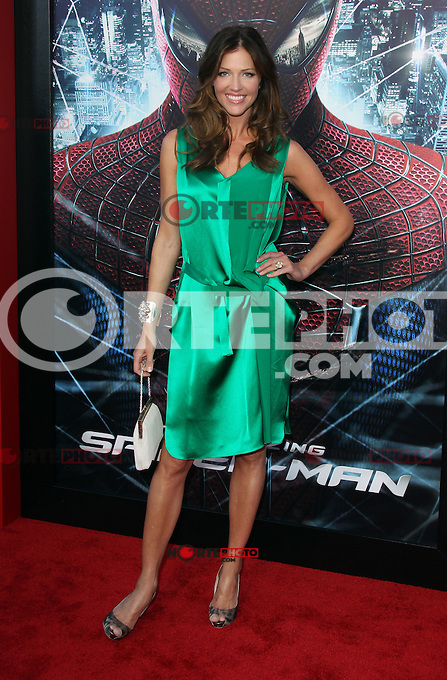 Tricia Helfer at the premiere of Columbia Pictures' 'The Amazing Spider-Man' at the Regency Village Theatre on June 28, 2012 in Westwood, California. &copy; mpi22/MediaPunch Inc. *NORTEPHOTO.COM*<br />