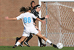 27 November 2009: North Carolina's Tobin Heath (98) and Wake Forest's Bianca D'Agostino. The University of North Carolina Tar Heels defeated the Wake Forest University Demon Deacons 5-2 at Fetzer Field in Chapel Hill, North Carolina in an NCAA Division I Women's Soccer Tournament Quarterfinal game.