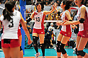Risa Shinnabe (JPN),.NOVEMBER 17,2011 - Volleyball : FIVB Women's Volleyball World Cup 2011,4th Round Tokyo(A) during match between Japan 3-2 Germany at 1st Yoyogi Gymnasium, Tokyo, Japan. (Photo by Jun Tsukida/AFLO SPORT) [0003].