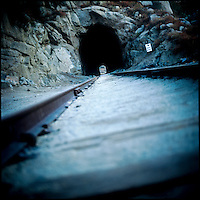 An open train tunnel that crosses between California and Mexico is commonly thought to be a frequently used passageway for drug smugglers to enter the USA.