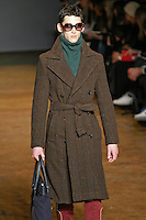 Andrey walks runway in an outfit from the Marc by Marc Jacobs Fall/Winter 2011 collection, during New York Fashion Week, Fall 2011.
