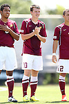 31 August 2014: Elon's James Brace (ENG). The Elon University Phoenix played the Loyola Marymount University Lions at Koskinen Stadium in Durham, North Carolina in a 2014 NCAA Division I Men's Soccer match. Elon won the game 1-0.