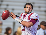 2 November 2013: Virginia Tech Hokies quarterback Logan Thomas (3) warms up prior facing the Boston College Eagles at Alumni Stadium in Chestnut Hill, MA. Mandatory Credit: Ed Wolfstein-USA TODAY Sports *** RAW (NEF) Image File Available ***