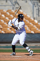 Glendale Desert Dogs Courtney Hawkins (10), of the Chicago White Sox organization, during a game against the Mesa Solar Sox on October 20, 2016 at Camelback Ranch in Glendale, Arizona.  Glendale defeated Mesa 3-2.  (Mike Janes/Four Seam Images)