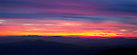 Sunset over the Great Smoky Mountains, as viewed from Clingmans Dome