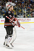 Clay Witt (Northeastern - 31) - The Boston College Eagles defeated the Northeastern University Huskies 5-4 in their Hockey East Semi-Final on Friday, March 18, 2011, at TD Garden in Boston, Massachusetts.