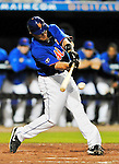 5 March 2012: New York Mets catcher Lucas May in action during a Spring Training game against the Washington Nationals at Digital Domain Park in Port St. Lucie, Florida. The Nationals defeated the Mets 3-1 in Grapefruit League play. Mandatory Credit: Ed Wolfstein Photo