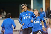 San Jose, CA - Friday April 14, 2017: Chris Wondolowski  prior to a Major League Soccer (MLS) match between the San Jose Earthquakes and FC Dallas at Avaya Stadium.