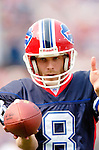 25 September 2005: Brian Moorman, special teams punter for the Buffalo Bills, takes some sideline practice during a game against the Atlanta Falcons.  The Falcons defeated the Bills 24-16 at Ralph Wilson Stadium in Orchard Park, NY.<br /><br />Mandatory Photo Credit: Ed Wolfstein.