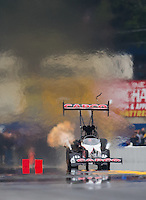 Oct 2, 2016; Mohnton, PA, USA; NHRA top fuel driver Steve Torrence during the Dodge Nationals at Maple Grove Raceway. Mandatory Credit: Mark J. Rebilas-USA TODAY Sports