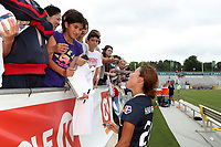 Cary, North Carolina  - Sunday May 21, 2017: Yuri Kawamura signs autographs after a regular season National Women's Soccer League (NWSL) match between the North Carolina Courage and the Chicago Red Stars at Sahlen's Stadium at WakeMed Soccer Park. Chicago won the game 3-1.