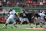 Ole Miss quarterback Bo Wallace (14) passes vs. Auburn at Vaught-Hemingway Stadium in Oxford, Miss. on Saturday, October 13, 2012. ..