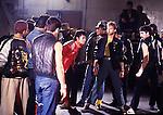 Michael Jackson 1983 filming 'Beat It' Video.© Chris Walter.