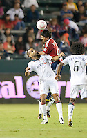CARSON, CA – OCTOBER 9: Toronto forward Maicon Santos (29) and Chivas USA midfielder Paolo Nagamura (26) during a soccer match at Home Depot Center, October 9, 2010 in Carson California. Final score Chivas USA 3, Toronto FC 0...
