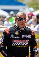 Jun 19, 2016; Bristol, TN, USA; NHRA top fuel driver J.R. Todd during the Thunder Valley Nationals at Bristol Dragway. Mandatory Credit: Mark J. Rebilas-USA TODAY Sports