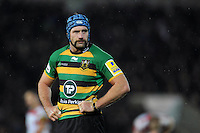 Michael Paterson of Northampton Saints looks on during a break in play. Aviva Premiership match, between Northampton Saints and Gloucester Rugby on November 27, 2015 at Franklin's Gardens in Northampton, England. Photo by: Patrick Khachfe / JMP