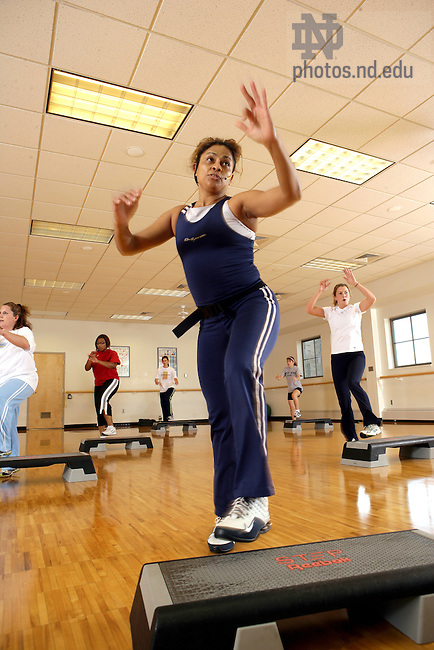 Fitness instructor Indiana leads her class