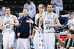 24 MAR 2012:  Western Washington University players celebrate from the bench against the University of Montevallo during the Division II Men's Basketball Championship held at the Bank of Kentucky Center in Highland Heights, KY. Western Washington won the national title 72-65.  Joe Robbins/NCAA Photos