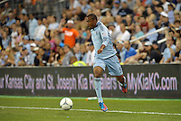Sporting forward Teal Bunbury (9) in action..Sporting Kansas City defeated Colorado Rapids 2-0 in Open Cup play at LIVESTRONG Sporting Park, Kansas City, Kansas.
