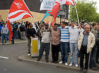 Over 1,000 mostly young Muslim protesters mobilise outside the Harrow Mosque which was the target of an anti Islam protest by Stop Islamification of Europe. The fascist English Defence League (EDL) and Unite Casuals were also expected. EDL supporters driven from the area by the youths and removed for their own safety by riot Police.