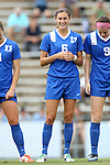 22 August 2014: Duke's Lizzy Raben. The Duke University Blue Devils played The Ohio State University Buckeyes at Fetzer Field in Chapel Hill, NC in a 2014 NCAA Division I Women's Soccer match. Ohio State won the game 1-0.