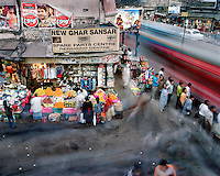 People move around Chandni Chowk road..