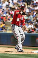 04/29/12 Los Angeles, CA: Washington Nationals first baseman Adam LaRoche #25 during an MLB game between the Washington Nationals and the Los Angeles Dodgers played at Dodger Stadium. The Dodgers defeated the Nationals 2-0.