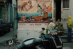 In a Hindu neighbourhood in the city