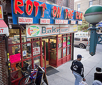 Roti on the Run restaurant in the East New York neighborhood of Brooklyn in New York on Saturday, November 5, 2016. (© Richard B. Levine)