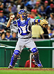 23 April 2010: Los Angeles Dodgers' catcher A.J. Ellis in action against the Washington Nationals at Nationals Park in Washington, DC. The Nationals defeated the Dodgers 5-1 in the first game of their 3-game series. Mandatory Credit: Ed Wolfstein Photo